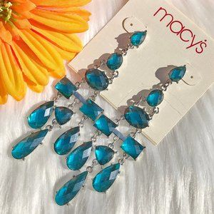 Macys Boho Earrings Dress Faux Crystal Post Dangle